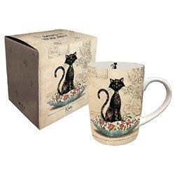 Mug boite chat sur coussin